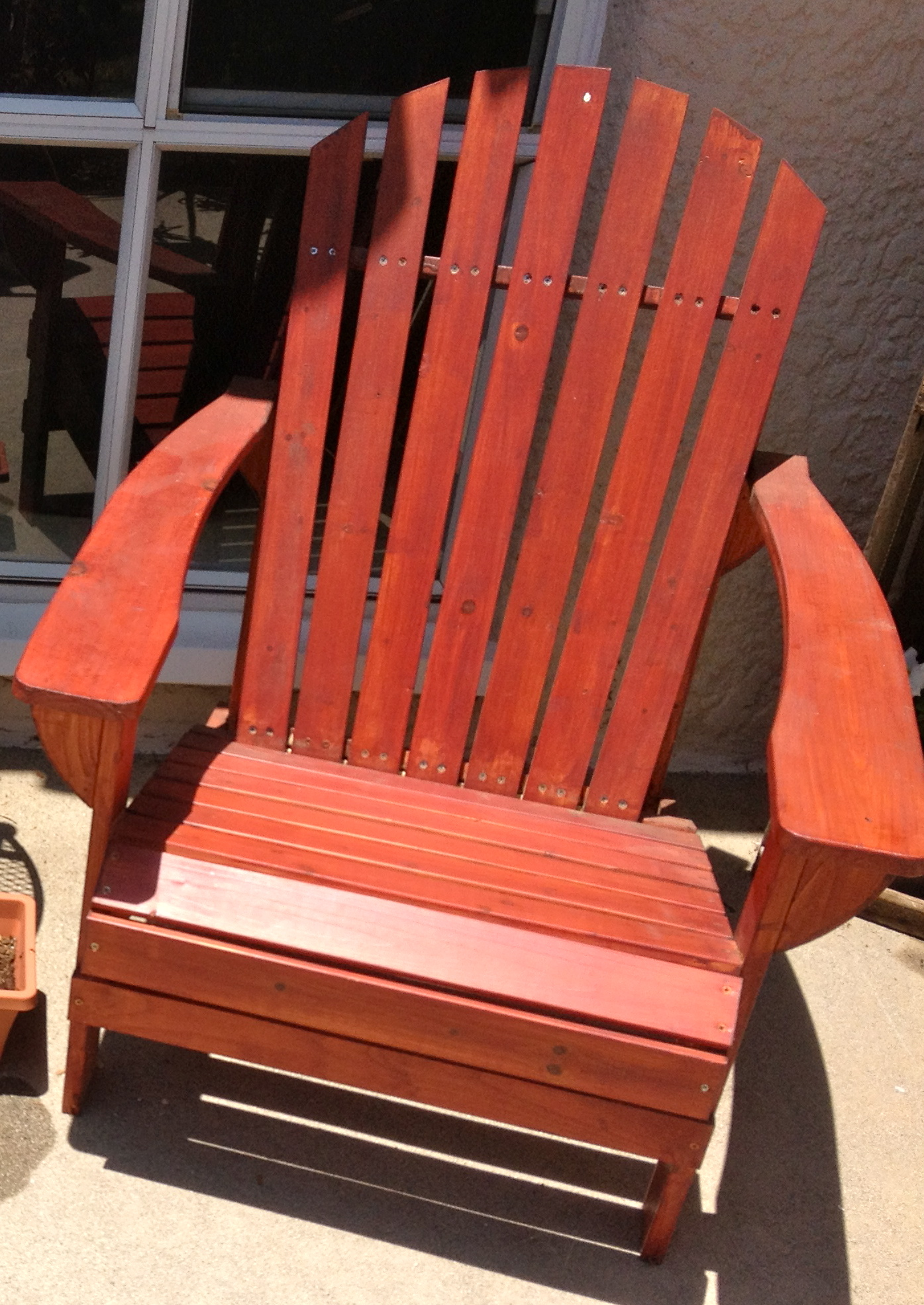 adirondack chair plans redwood