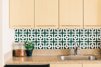 using contact paper as backsplash - rhiannon's interiors
