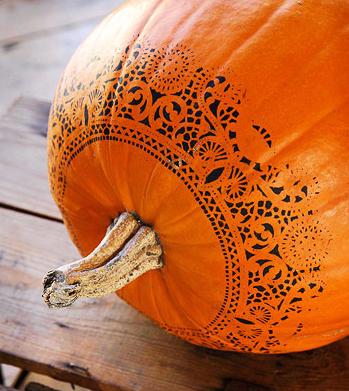 Doily Pumpkin