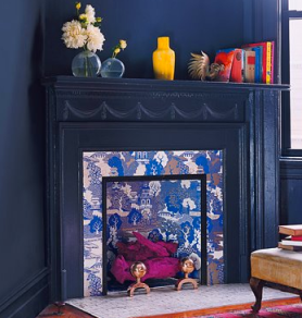 Accent Color Fireplace