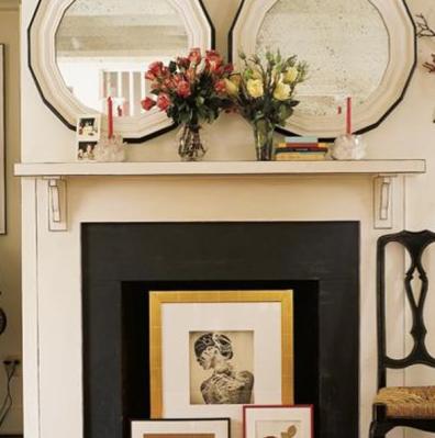 Art in Fireplace