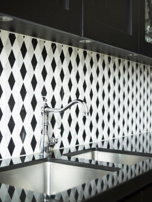 black white diamond tile