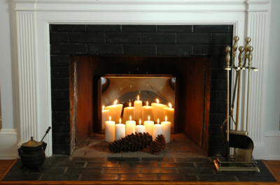 Candle Fireplace Insert how to enjoy a non functioning fireplace