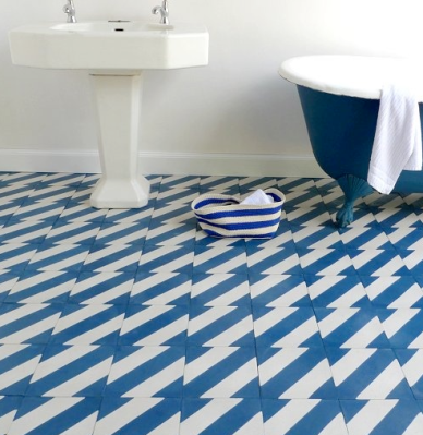 Custom Blue Floor Tile