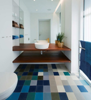 Multi Colored Floor Tile