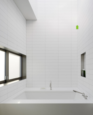White Bathroom Modern Tile