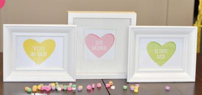 Conversation Hearts as art prints