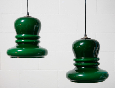 Deco green pendant lights