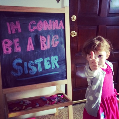 Gonna be a big sister