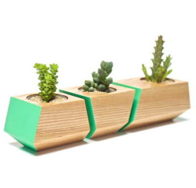 Green block planters